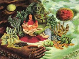 Abrazo amoroso, Frida Kahlo