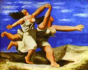 Mulheres correndo na praia, de Picasso