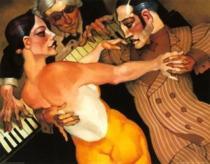 Femme au Robe Orange - Juarez Machado
