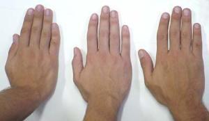 mãos masculinas